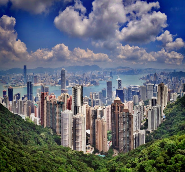 Victoria Peak Hong Kong by Monika Mukherjee