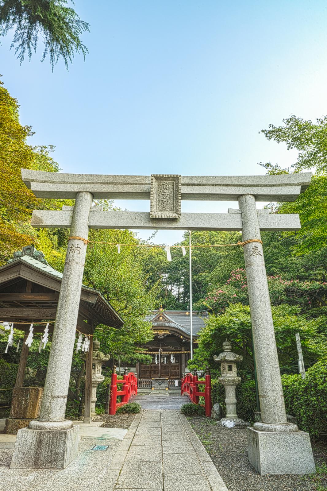 貫井神社の鳥居の写真