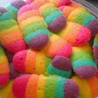 Resep Lidah Kucing Rainbow dan Cara Membuat
