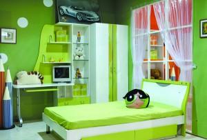 home design segar dengan warna hijau