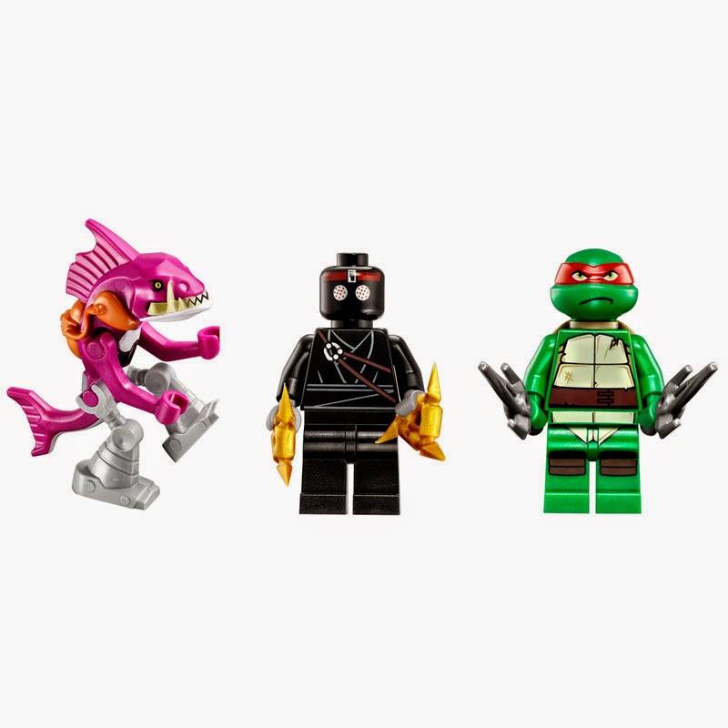 Incluye 2 minifiguras: Raphael, Soldado Foot y 1 personaje (Fishface).