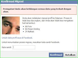 cara migrasi facebook menjadi fan page