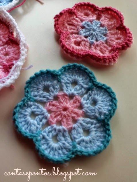 Flores africanas, crochet