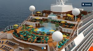 Carnival Cruises' Carnival Sunshine Serenity Retreat Area