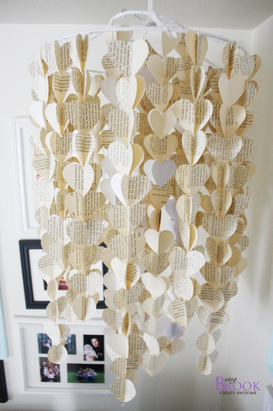 Paper Heart Wall Decor : Paper heart wall art twist me pretty