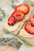 Lemon Shortbread Cookies with Strawberries and Mascarpone