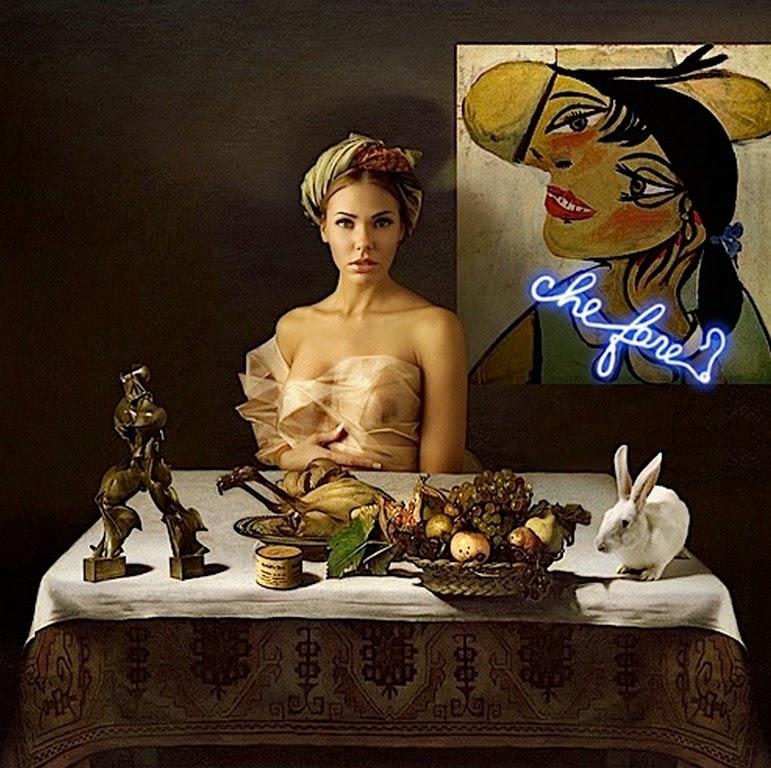 pintura-surrealista-mujeres-y-frutas
