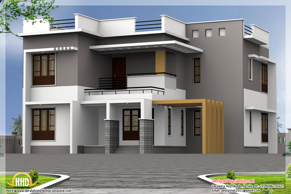 Exterior collections kerala home design 3d views of for 3d home