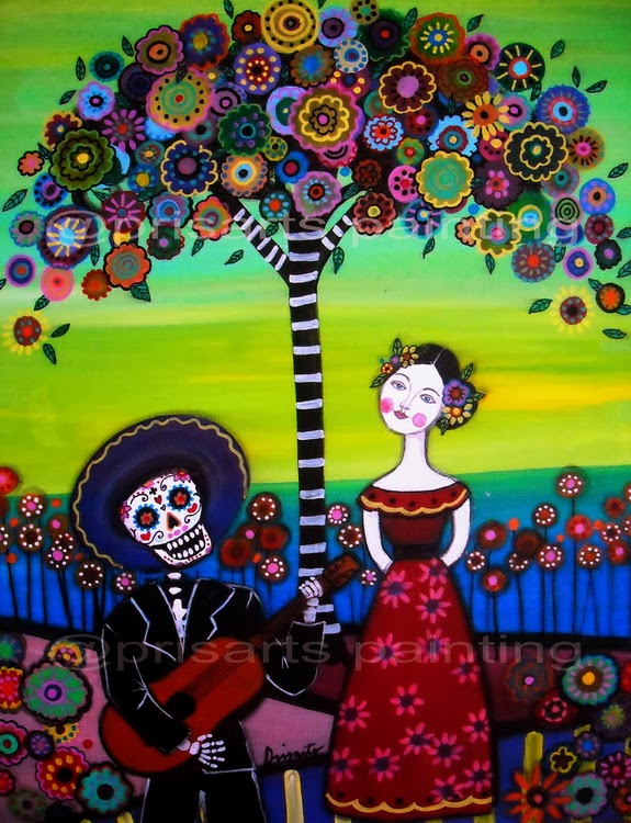 This Day Of The Dead Art Was Painted On 12x16 Inches Stretched Canvas Check Out At PRISARTS GALLERY