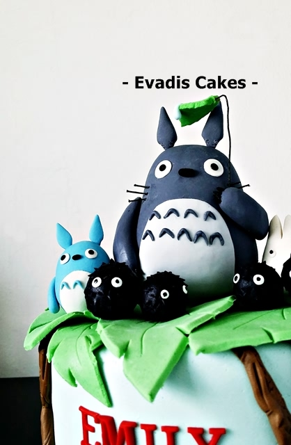 Close view picture of My Neighbour Totoro Cake
