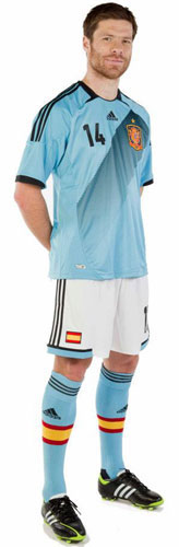 nueva segunda equipación España Eurocopa 2012
