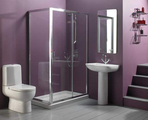 Eggplant Purple Bathroom remodeling photo