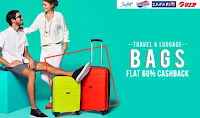 PayTM : Buy Luggage with Extra upto 58% Cashback