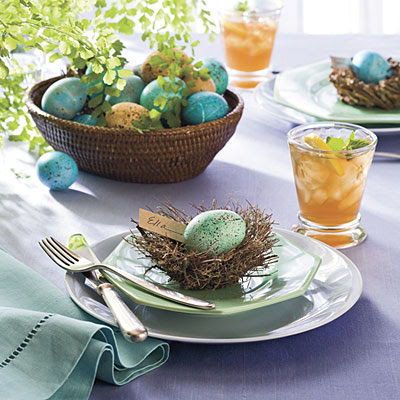 Quick easter table decoration and centerpiecesinterior Simple table setting for lunch