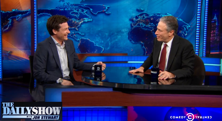 Jon Stewart and Jason Bateman Speak Yiddish on the Daily Show