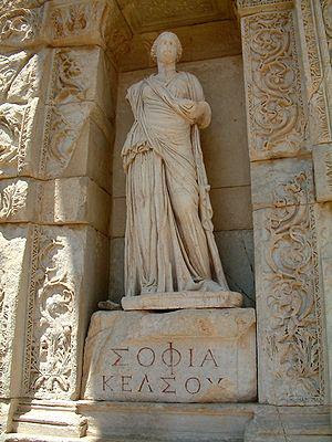 "Sabedoria (em grego Σοφία, ""sofía"")."