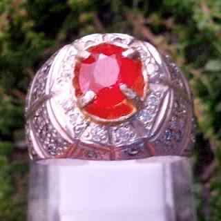 Cincin Batu Permata Orange Sapphire