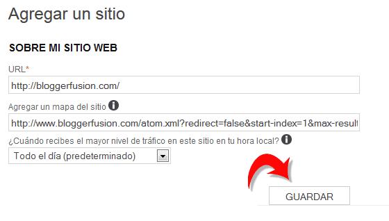 Agregar Sitemap a Bing
