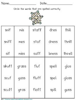 Worksheets for words that end in k or ck | Tony blog