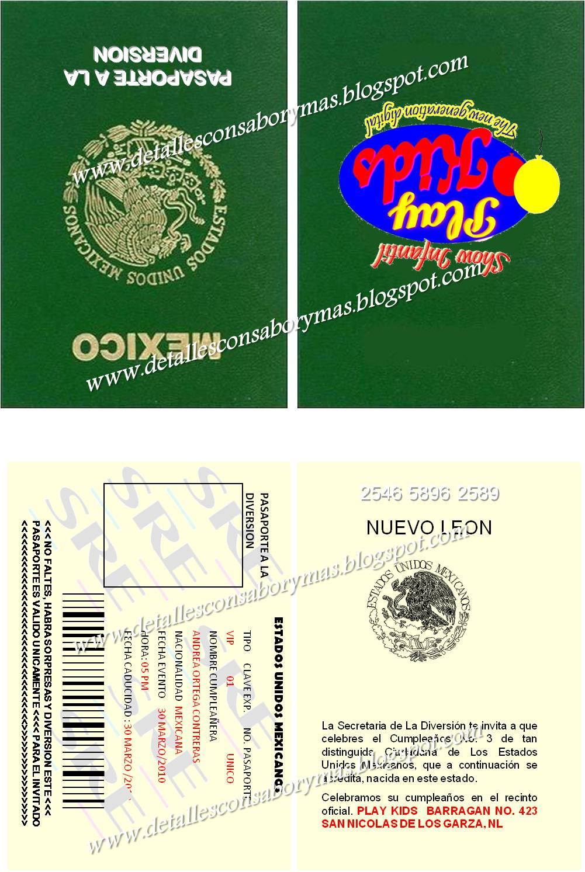 Detalles Con Sabor Y Mas Invitacion Tipo Pasaporte