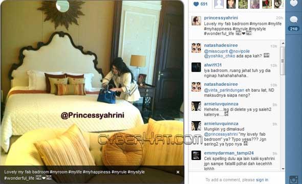 Salah Ketik Lagi, Syahrini Diledek Di Instagram