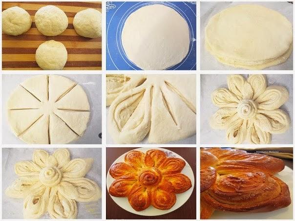 طريقه لتشكيل الخبز بالصور