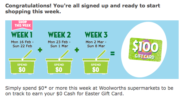 Justlocal just local woolworths everyday rewards incentive not do i have to spend 0 to get 0 reward or do spend 0 to get 100 gift card negle Image collections