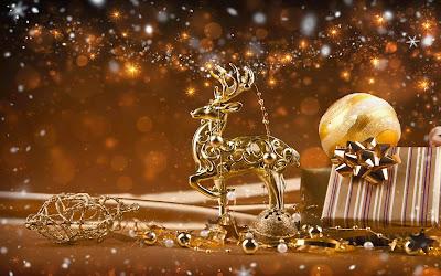 Papel de parede rena enfeite de natal para pc christmas reindeer decoration wallpaper