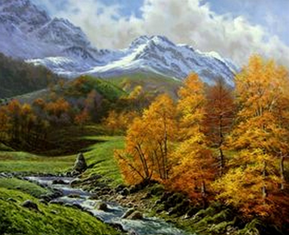 Im genes arte pinturas paisajes hermosos al leo - Fotos y cuadros ...
