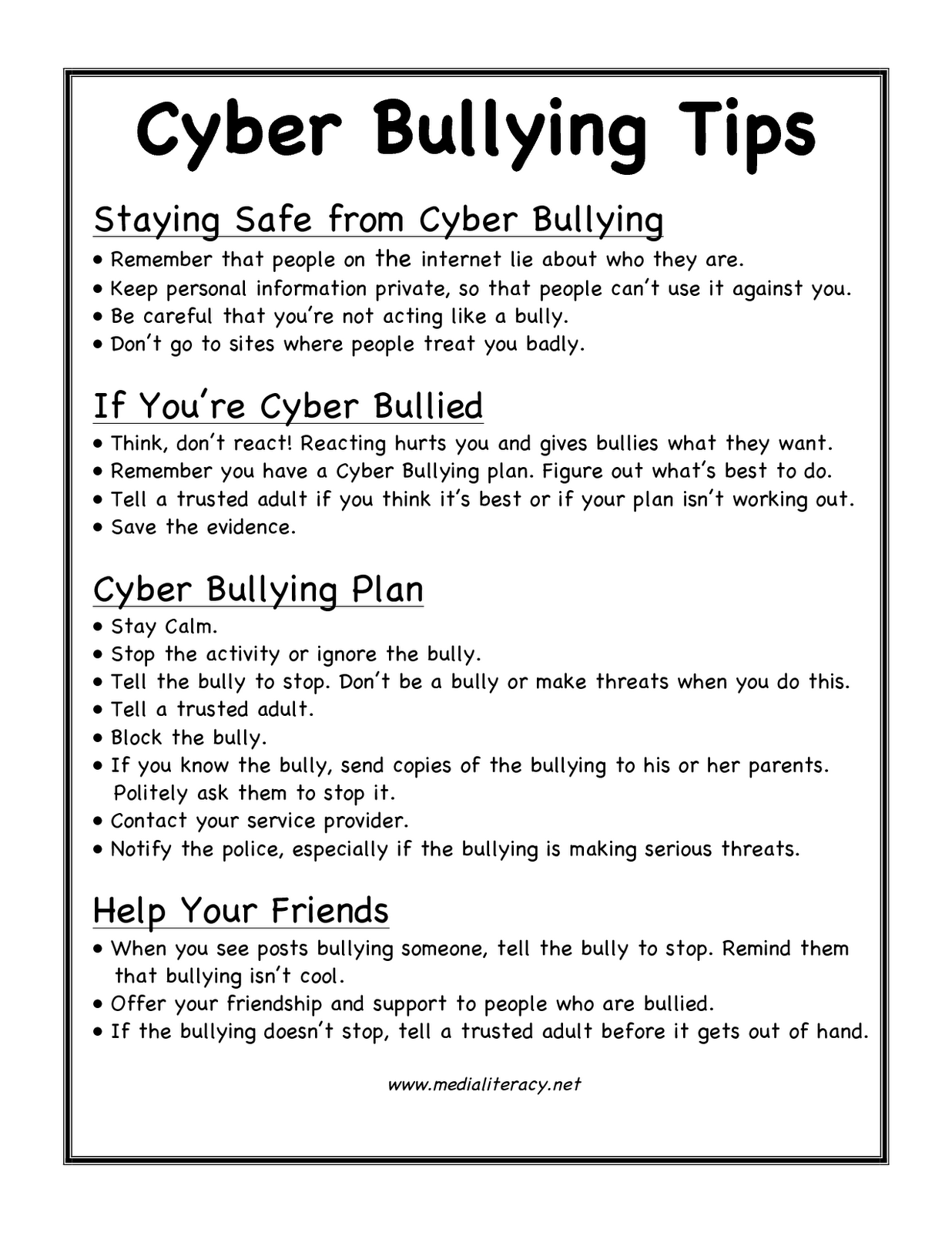 cyberbullying tips the anti bully blog. Black Bedroom Furniture Sets. Home Design Ideas