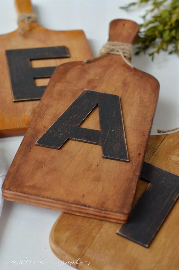 Cutting Board Kitchen Art  | www.andersonandgrant.com