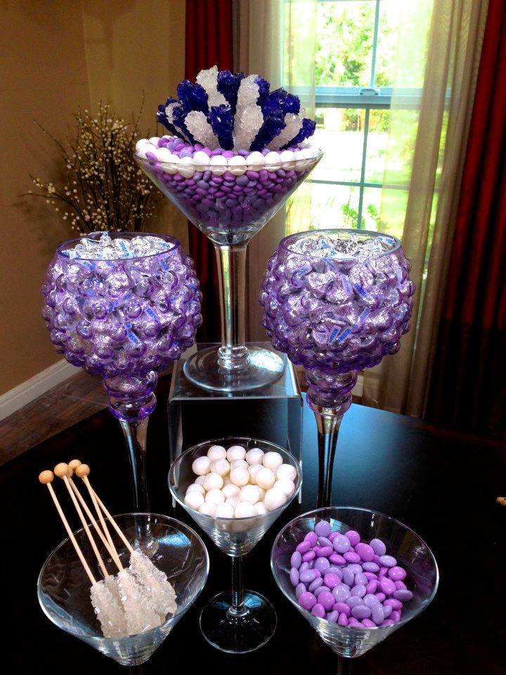 Rock Candy Centerpiece Ideas : Chic modern candy centerpieces sweet decor