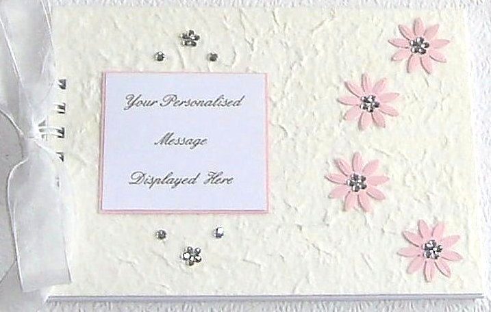 Personalised Guest Books: Personalised Christening Guest Book