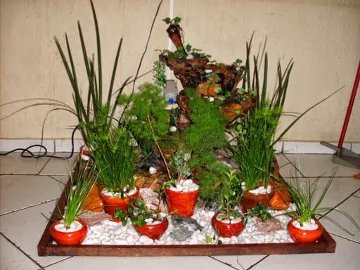 cascata com decoração