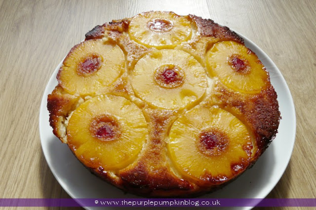 Pineapple & Coconut Upside Down Cake at The Purple Pumpkin Blog