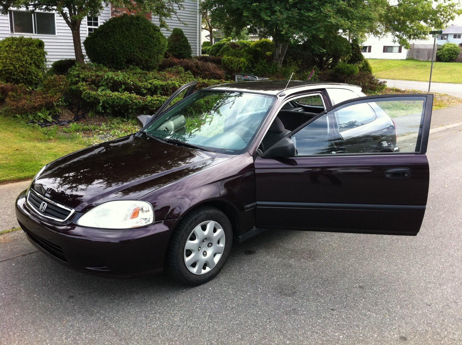 here i have a purple 2000 honda civic hatchback. Black Bedroom Furniture Sets. Home Design Ideas