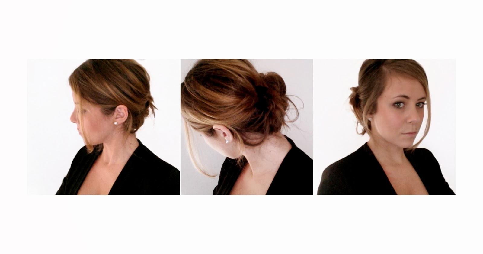 Le Poudrier de Sandrine Un chignon romantique pour les fêtes (cheveux mi  longs et longs)