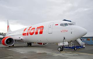 Pesawat Milik Maskapai Penerbangan Lion Air