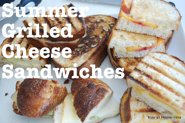 Summer grilled cheese sandwiches