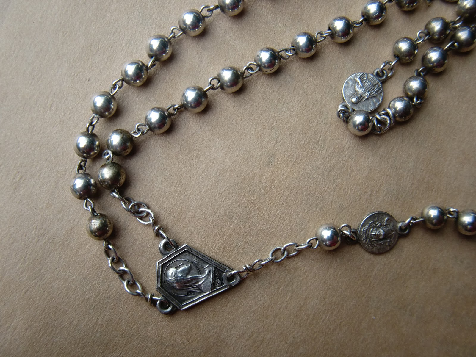Beautiful Rosary: Lovely silver plate art deco style ...