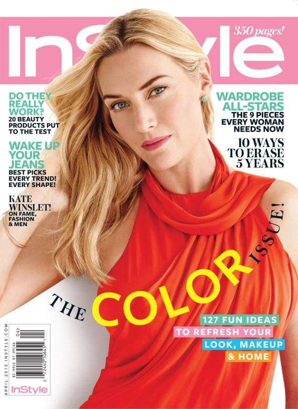 Kate Winslet covers InStyle April 2015, talks about being curvy