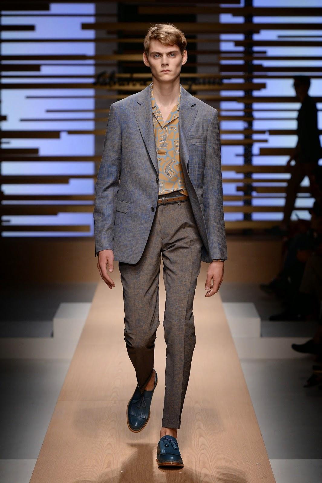 men's styling: Salvatore Ferragamo Spring/Summer 2015