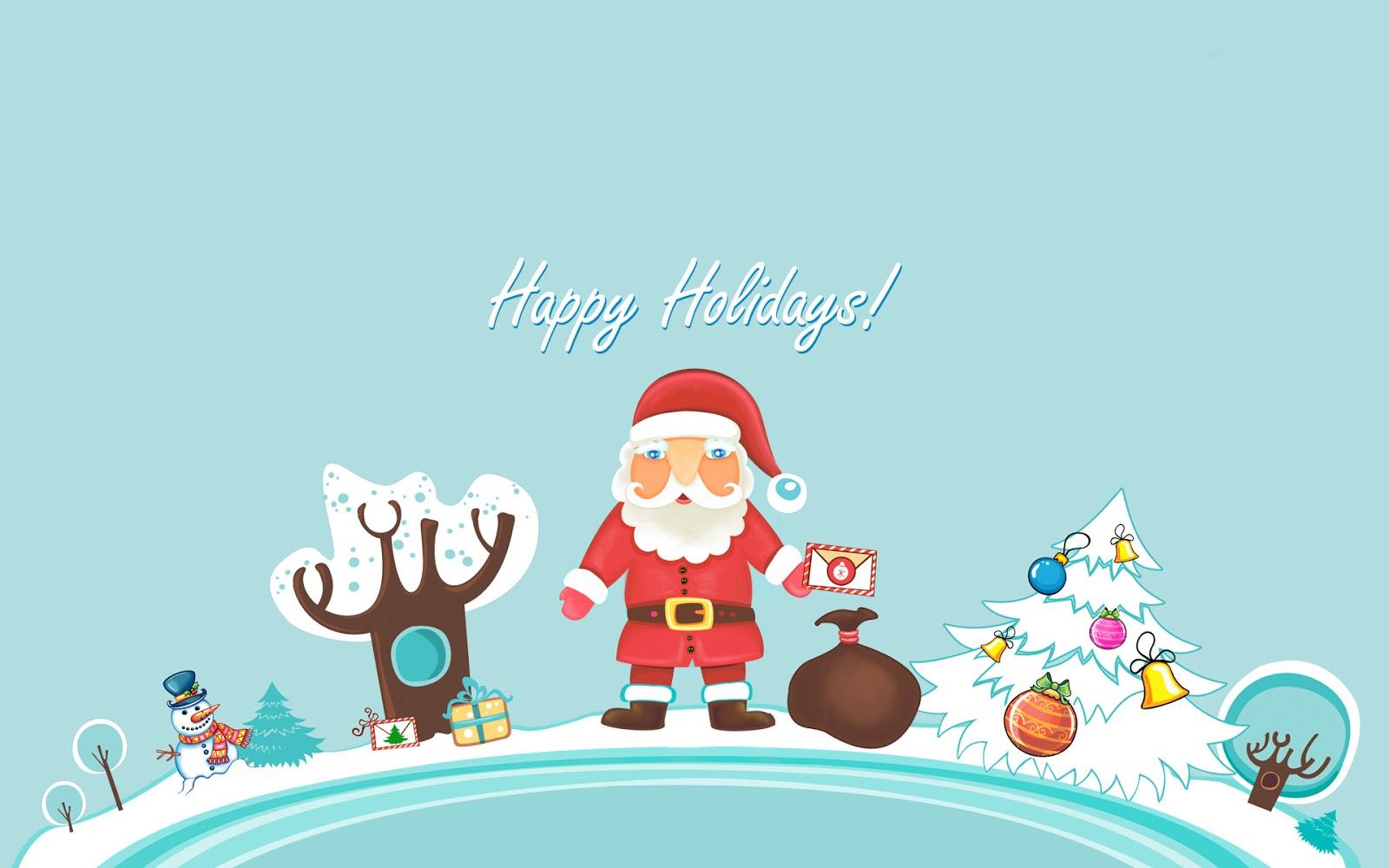 Santa Clause Wallpaper, Santa Clause Christmas Wallpaper, Happy Holidays Wallpaper