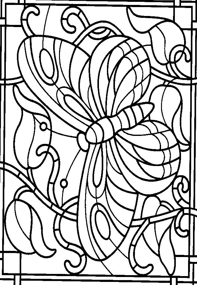 Favoritos Banco de Atividades: ARTES- vitral de borboleta LV82