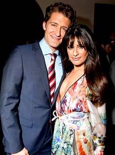 Lea Michele and Matthew Morrison