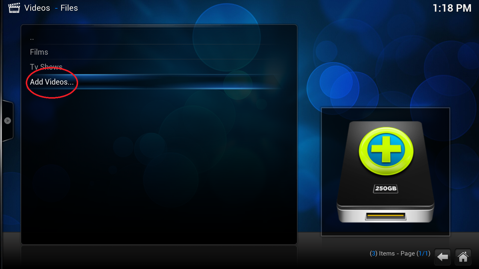 how to add tv shows to kodi library