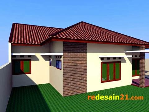 desain rumah besar bangunan 150 m2 - sudut kiri rd2