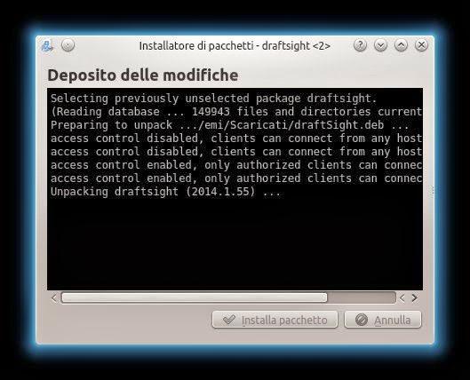 installazione draftsight linux kubuntu