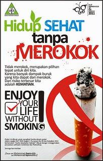 Poster Kesehatan Untuk Stop merokok