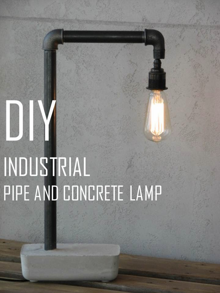 Minimalist concrete design for home modern cement decor for How to make a pipe lamp